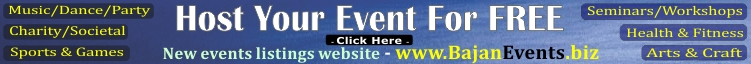 Host your Event on www.BajanEvents.biz ... it's FREE
